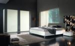 MMZ WONEN / Modern yatak odasi takimi - italyan design - surgulu dolap - led lambali - parlak beyaz gri