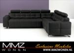 MMZ WONEN / modern italyan design deri kumasli dolgulu kose koltugu demir bacakli - gri siyah
