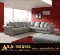 .AXA WOISS Meubelen / kırlentli kumaş Köşe Takımı 24 7211