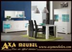 .AXA WOISS Meubelen / hem ucuz hem şık modern beyaz parlak yemek odası takımı
