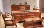 özkar mobilya / paşa ahşap kaplamalı masa takımı