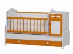Cicila Bebe Genç Mobilyaları / BÜYÜYEN BEŞİK ASANSÖRLÜ 60x120 TURUNCU