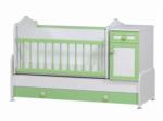 Cicila Bebe Genç Mobilyaları / BÜYÜYEN BEŞİK ASANSÖRLÜ 60x120 YEŞİL