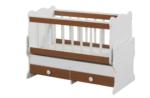 Cicila Bebe Genç Mobilyaları / İÇTEN SALLANIR BEŞİK 60X120 CEVİZ
