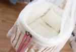 Bebekonfor bebek beşik uyku seti / Sepet Beşik için Krem Çiçekli lilyum uyku seti