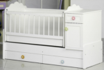 Cicila Bebe Genç Mobilyaları / BÜYÜYEN BEŞİK ASANSÖRLÜ 60x120 BEYAZ