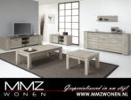 MMZ WONEN / modern tahta design oturma odasi seti - kahverengi - mese oturma odasi seti