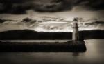 Alkapıda.com / Deniz Feneri ve Bulutlar Canvas Tablo dkrtf-661