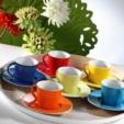 Alkapida.com Türkiye / Kütahya Porselen Toledo 6 Kişilik Renkli Porselen Kahve Takımı