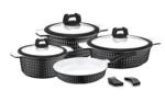 Falez Trendy Ceracast Black 7 Parça Döküm  Tencere Seti FDS 1020
