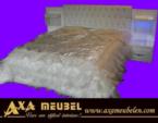 .AXA WOISS Meubelen / avantgarde swarovski taşlı beyaz parlak yatak odası