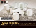 .AXA WOISS Meubelen / puflu orta cam sehpa