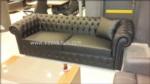 baykoç mobilya / Siyah Gercek Deri Chester Koltuk