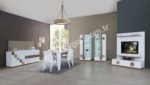 EVGÖR MOBİLYA / Parise Beyaz Yemek Odası