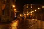 Alkapıda.com / Sokağı Aydınlatan Işık Süzmeleri Canvas Tablo shr-985