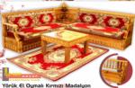 Özkap Ahşap / Yörük El Oymalı Kırmızı Madalyon