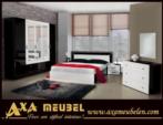 .AXA WOISS Meubelen / Çok Ucuz...   modern parlak siyah beyaz yatak odası takımı 15 1608