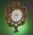 Alkapıda.com / Çıdam Seramik Güllü Duvar Saati Altın Rengi