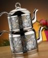 Alkapıda.com / Zerden Orta Boy Hürrem Dekorlu Çelik Saplı Çaydanlık