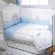 Alkapida.com Türkiye / Aybi Baby Boby & Bonnie Blue 8 Parça 70x130cm Bebek Uyku Seti BOBY-205