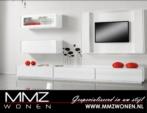 MMZ WONEN / modern televizyon sehpasi ve duvar unitesi - parlak beyaz - cekmeceli