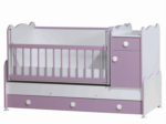 Cicila Bebe Genç Mobilyaları / BÜYÜYEN ASANSÖRLÜ BEŞİK 70X130 LİLA