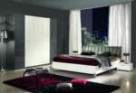 MMZ WONEN / Modern yatak odasi takimi italyan design - metal ayakli beyaz gri parlak