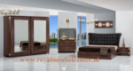 Royal Meubel & Bedden & Boxsprings / Elegant Walnut Yatak odasi takimi