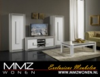 MMZ WONEN / modern italyan design televizyon sehpasi ve vitrinler orta masasi - beyaz parlak