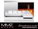 MMZ WONEN / lux koltuk koseli deri kumasli - beyaz siyah - yastikli