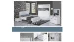 EVGÖR MOBİLYA / Şifonyer Ayna Dahil Enjoy Modern Yatak Odası