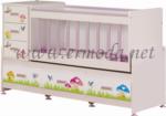 ERMODA Modüler Mobilya / Ermoda Sedef Beşik Mushroom Baskılı Beşik
