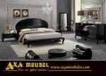 ****AXA WOISS Meubelen / Barok stilde tasarlanmış siyah parlak modern yatak odası