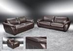 MMZ WONEN / italyan model kahverengi koltuk takimi - deri kumas komforlu