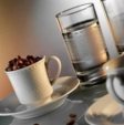 Alkapida.com Türkiye / Kütahya Porselen Zümrüt 6 Kişilik Su Bardaklı Kahve Fincan Takımı
