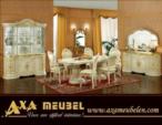 .AXA WOISS Meubelen / altın renkli harika tasarımı ile klasik parlak lüx yemek odası takımı 58 1228