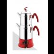 Aksel Klasik Elektrikli Çaydanlık Takımı AK0421 Kırmızı