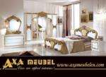 .AXA WOISS Meubelen / altın renkli harika tasarımı ile klasik parlak lüx yatak odası takımı
