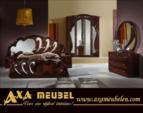 .AXA WOISS Meubelen / italyan tarzı parlak klasik fındık rengi yatak odası
