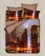 YALÇIN GLOBAL TEKSTİL  / Dantela Vita 3D Pamuk Saten Nevresim Takımı Çift Kişilik New York