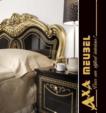 .AXA WOISS Meubelen / klasik parlak siyah altın renkli yatak odası takımı