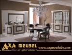 .AXA WOISS Meubelen / klasik parlak versace medusa yemek odası takımı
