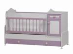 Cicila Bebe Genç Mobilyaları / BÜYÜYEN BEŞİK ASANSÖRLÜ 60x120 LİLA