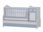 Cicila Bebe Genç Mobilyaları / BÜYÜYEN BEŞİK ASANSÖRLÜ 60x120 MAVİ