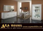 .AXA WOISS Meubelen / avangarde beyaz parlak swarovski taşlı yemek odası