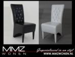 MMZ WONEN / Modern tek kisilik sandalye - Tasli siyah beyaz - Lux italyan design