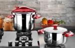 Alkapıda.com / Falez Twist & Cook 5 Parça Kırmızı Düdüklü Tencere Seti FDDK 1010