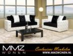 MMZ WONEN / Lux italyan design koltuklar - tasli beyaz kahverengi - deri suet
