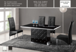 Royal Meubel & Bedden & Boxsprings / Dtg712 Modern Dizayn  Tasli Yemek masasi siyah