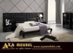 .AXA WOISS Meubelen / Barok stilde tasarlanmış siyah parlak modern yatak odası